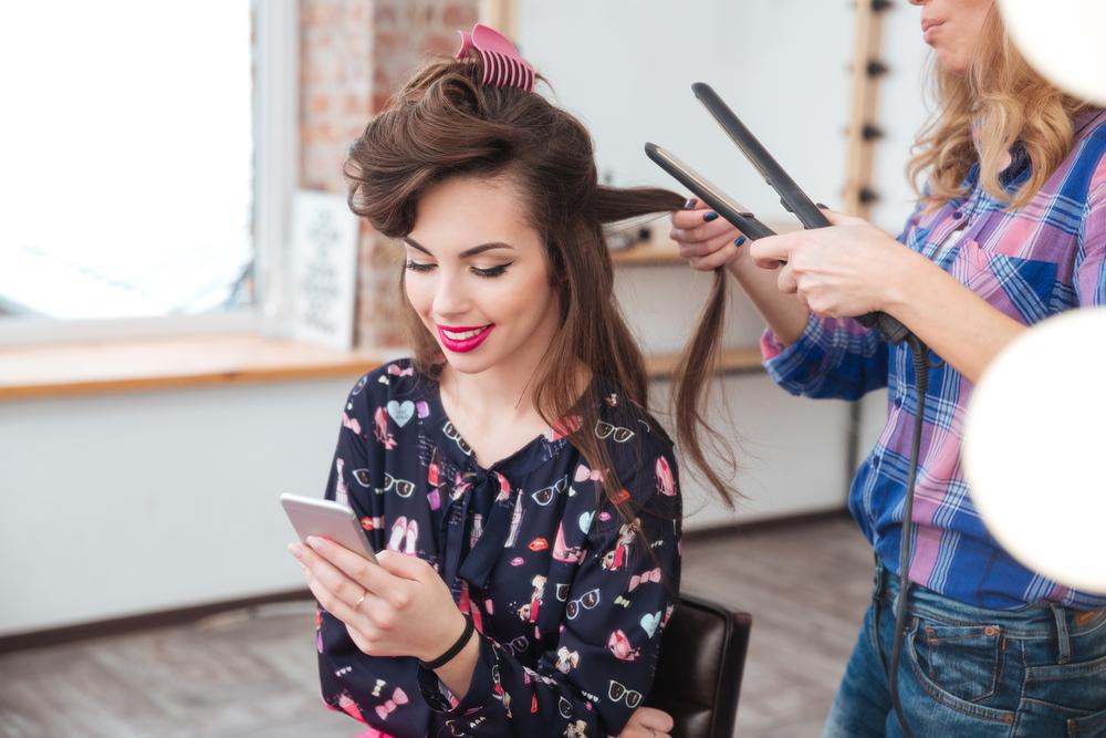 stylist doing hair